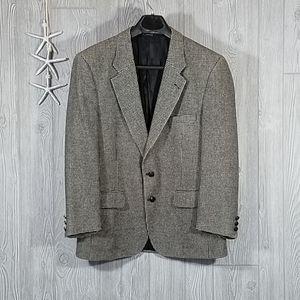 Burberry's Camel Hair Herringbone Jacket Blazer 40